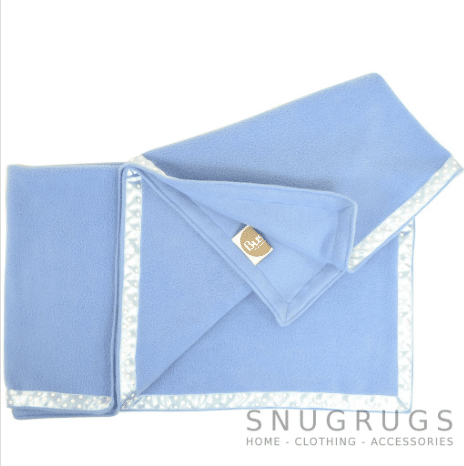 Luxury Fleece Throw / Pram Blanket - Blue