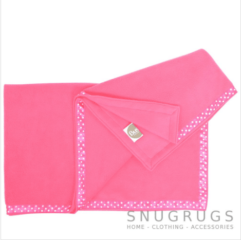 Luxury Fleece Throw / Pram Blanket - Pink