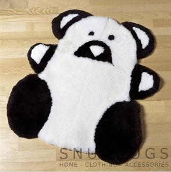 Sheepskin Teddy Rug - Black & White