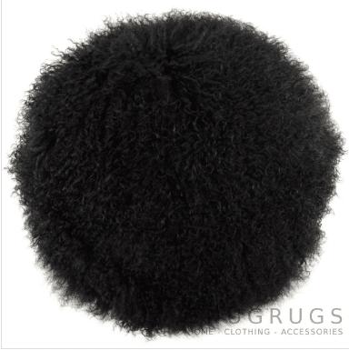 Snugrugs Mongolian Cushion – Round – Black