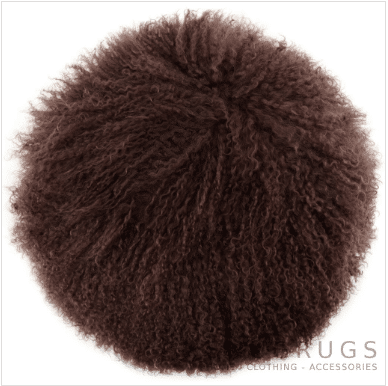 Snugrugs Mongolian Cushion – Round – Brown