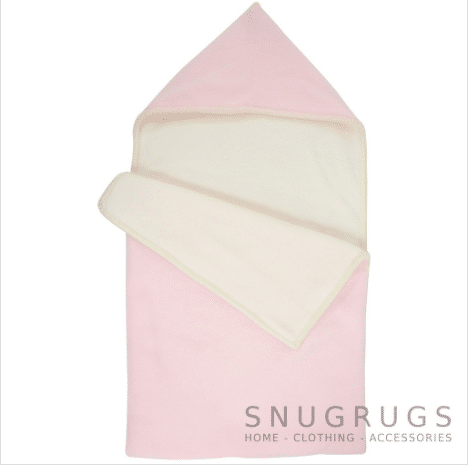 Luxury Fleece Reversible Hooded Cocoon / Sack - Baby Pink