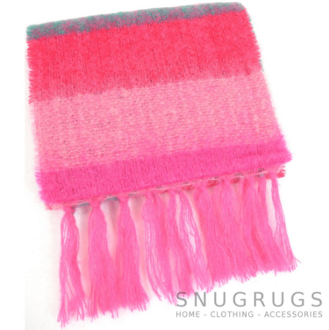 Mohair Scarf - Pinks