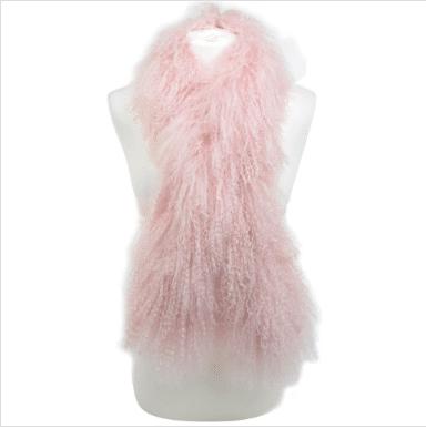 Snugrugs Mongolian Sheepskin Scarf – Pink