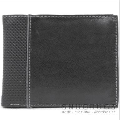 Glen - Soft Leather Bi-Fold Wallet - Grey