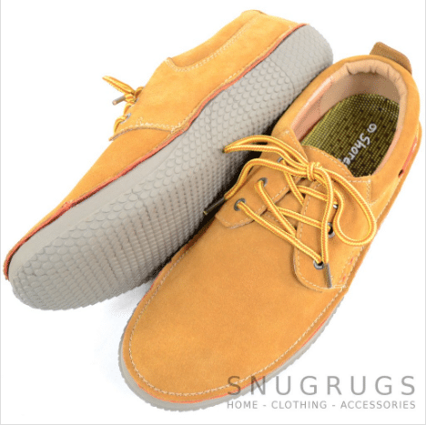 Leather Slip On Summer Shoes - Tan