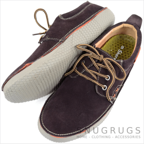 Leather Slip On Summer Shoes - Brown