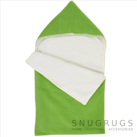 Luxury Fleece Reversible Hooded Cocoon / Sack - Green