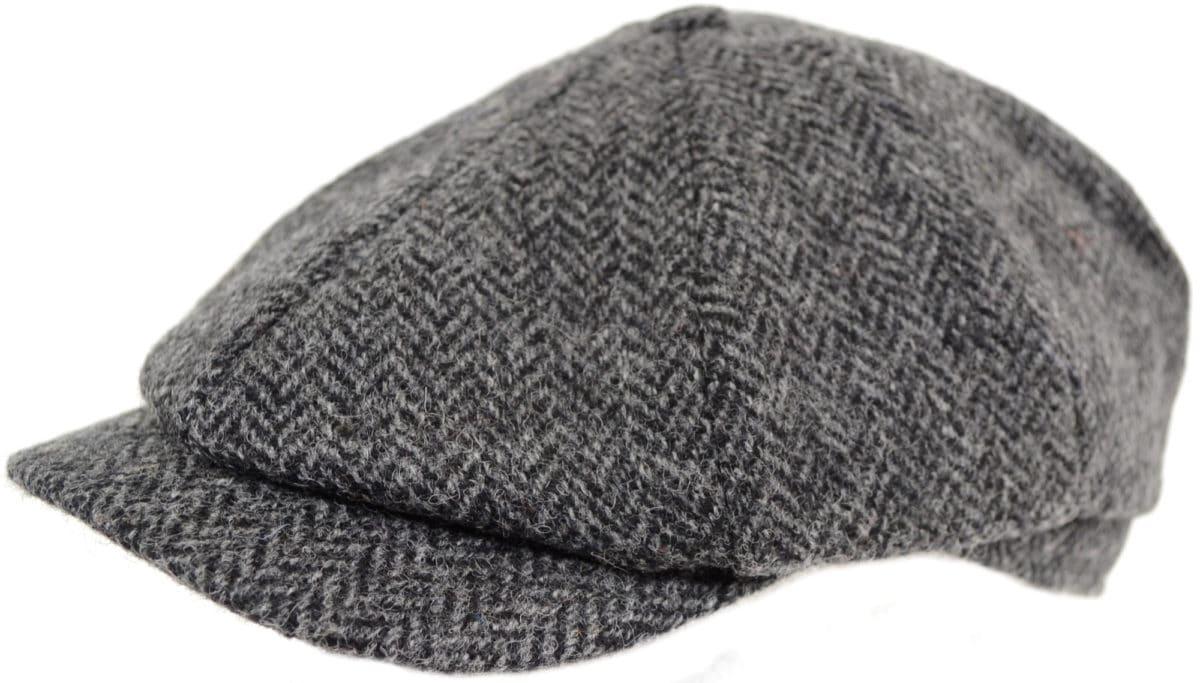 8 Piece Tweed Cap - Grey