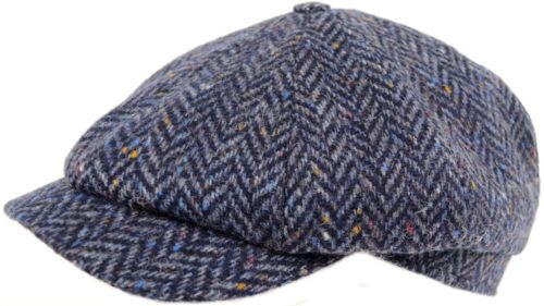 8 Piece Tweed Cap - Navy