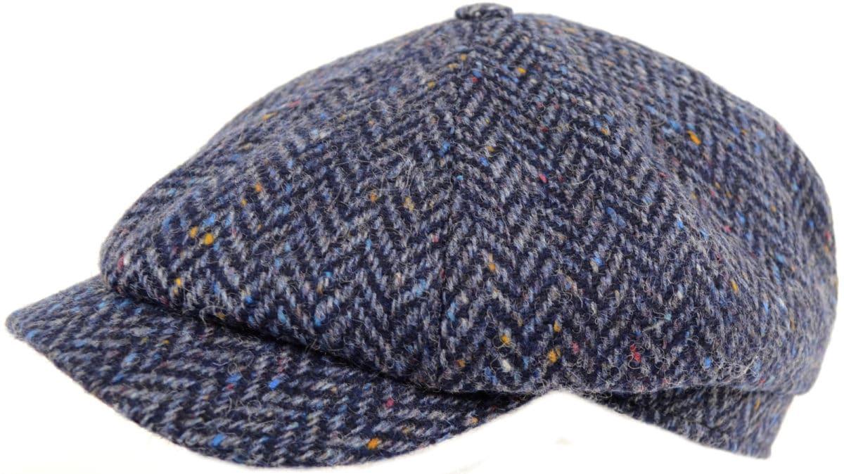 8 Piece Tweed Cap - Navy