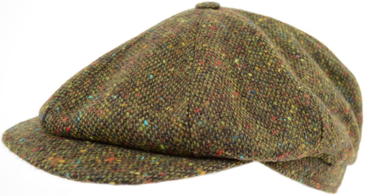 8 Piece Tweed Cap - Green