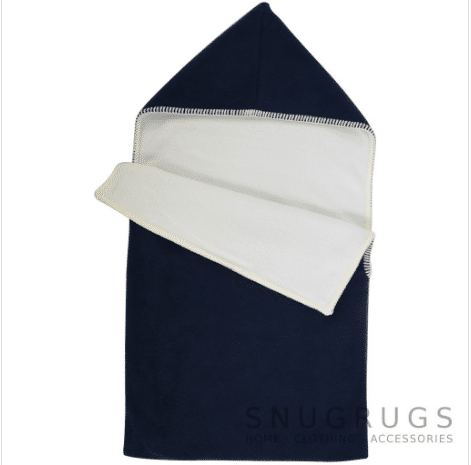Luxury Fleece Reversible Hooded Cocoon / Sack - Navy