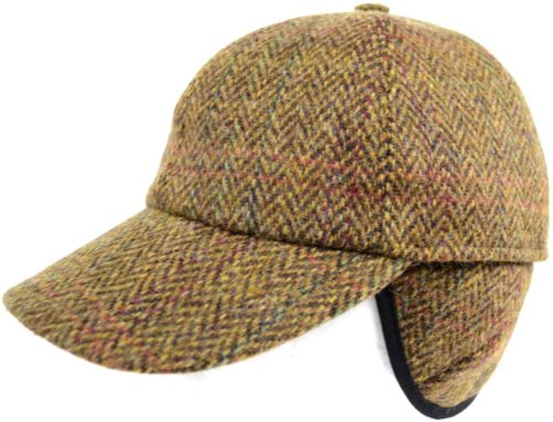 Tweed Baseball Cap - Light Brown