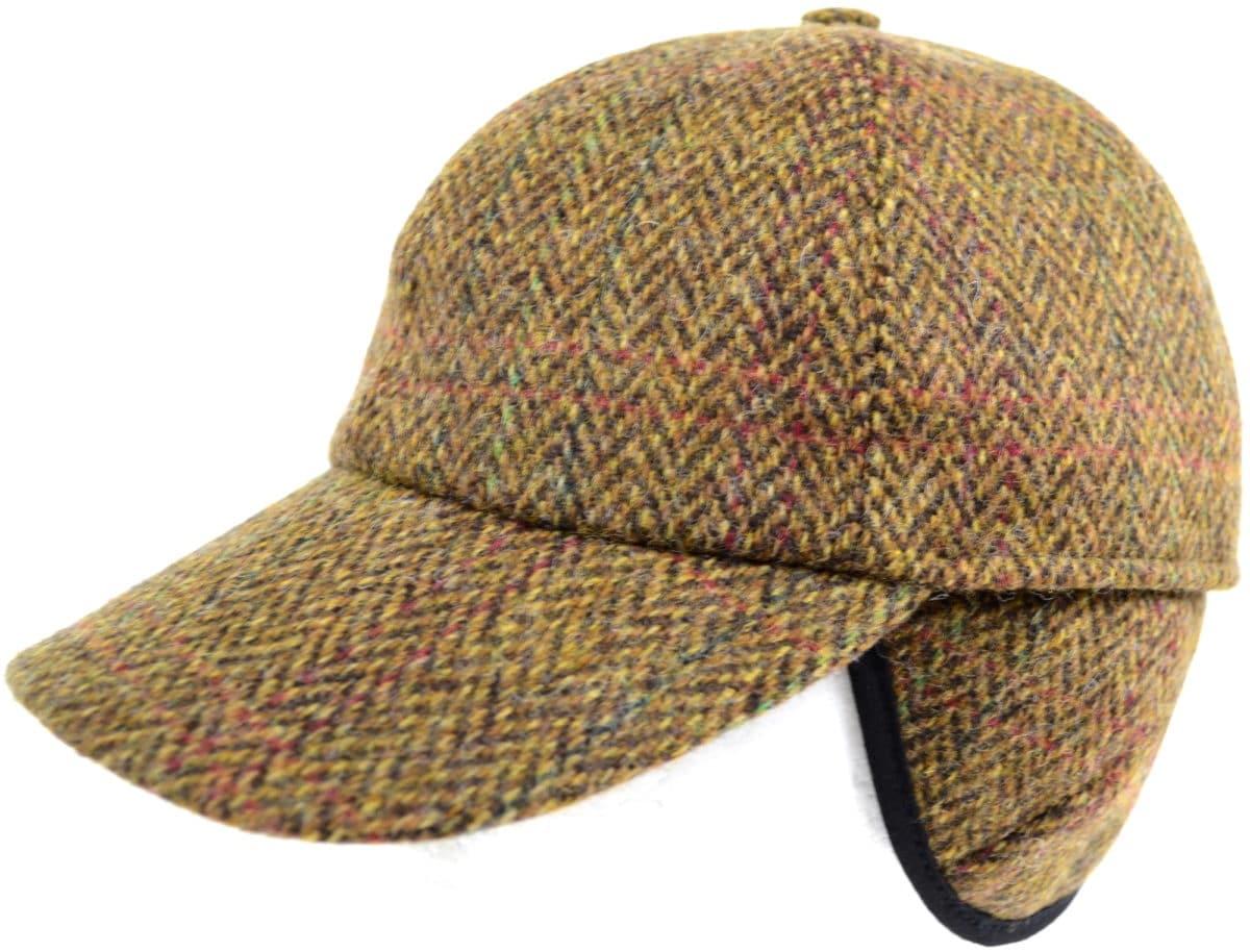 Tweed Baseball Cap - Light Brown