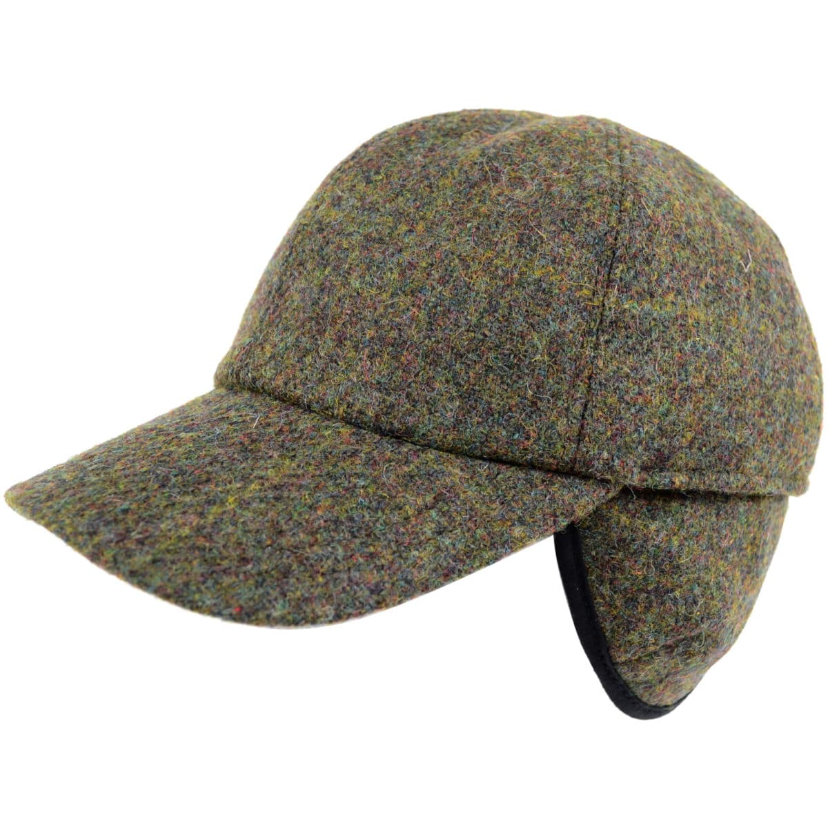 Tweed Baseball Cap - Green