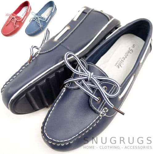 Snugrugs Soft Leather Boat Shoes