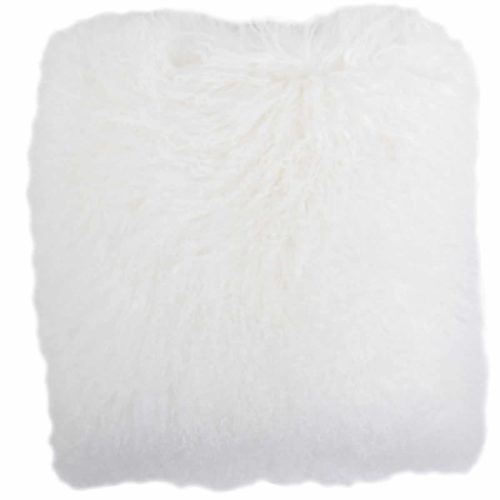 Snugrugs Mongolian Sheepskin Cushion 60cm x 60cm – White