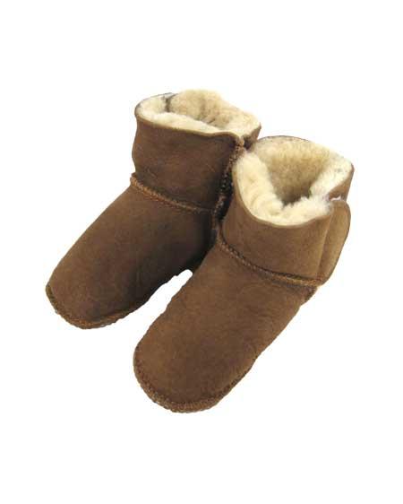 Snugrugs Baby Full Sheepskin Booties - Chestnut