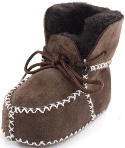 Snugrugs Sheepskin Booties Brown