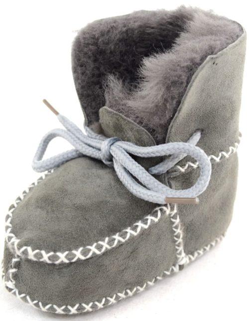 Snugrugs Baby Sheepskin Booties Grey