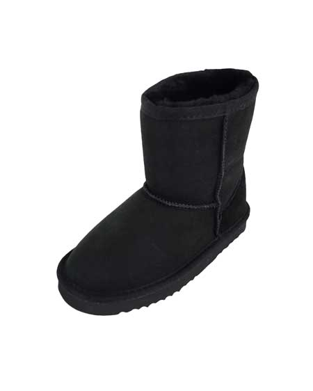 Snugrugs Kids Sheepskin Boots Black
