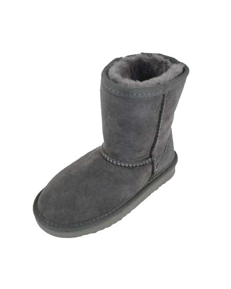 Snugrugs Kids Sheepskin Boot Grey