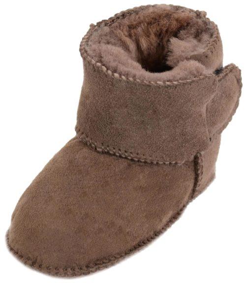 Snugrugs Baby Full Sheepskin Booties - Chocolate