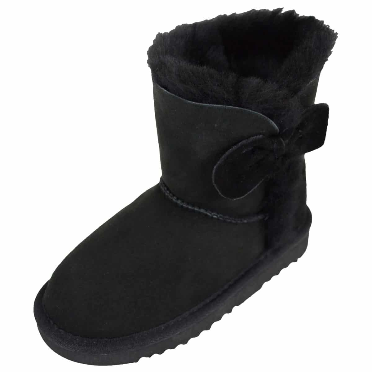 Snugrugs Childs Sheepskin Boots Black