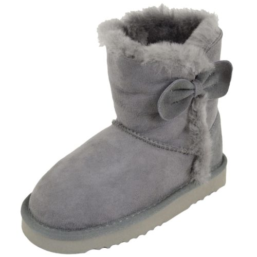 Snugrugs Childs Sheepskin Boots Grey