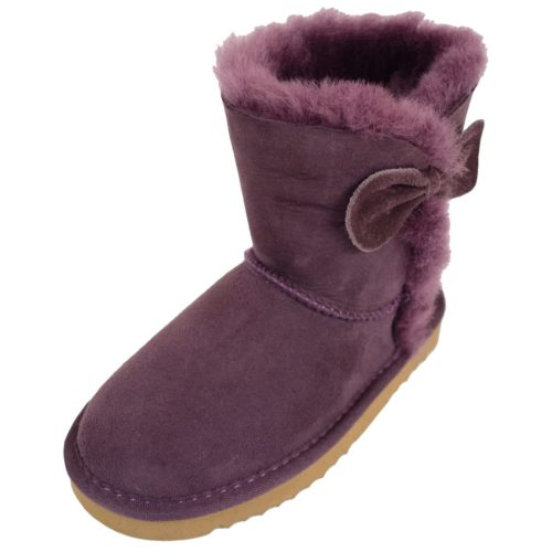 Snugrugs Childs Sheepskin Boots Purple