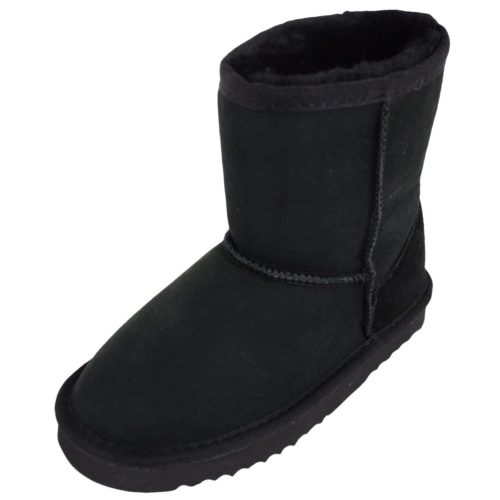 Snugrugs Kids Sheepskin Boots Black