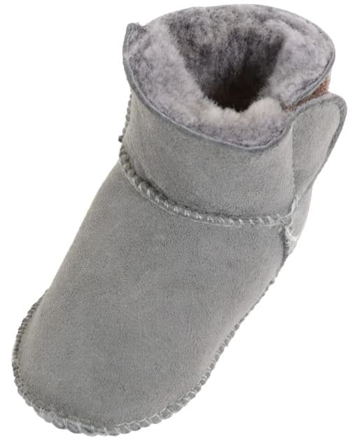 Snugrugs Baby Full Sheepskin Booties - Grey