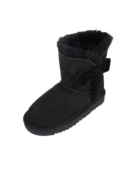 Snugrugs Childs Sheepskin Boots Black