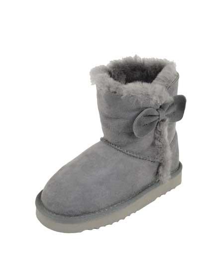 Snugrugs Childs Sheepskin Boots Grey
