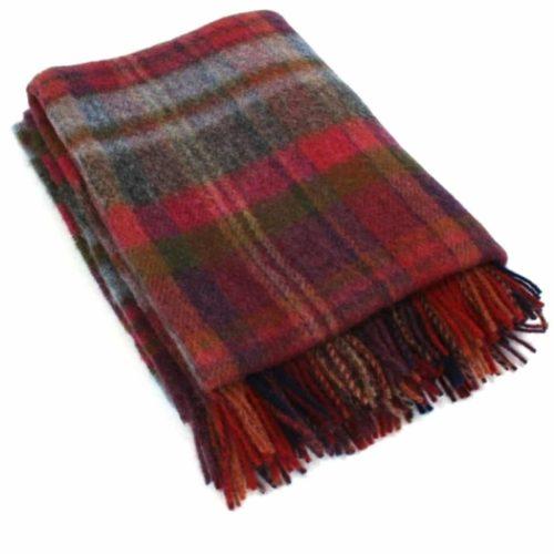 Wool Blanket - Merlot