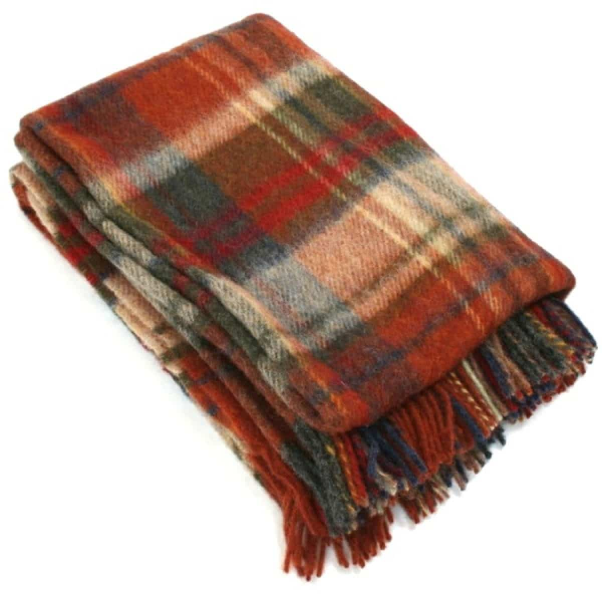 Wool Blanket - Crimson