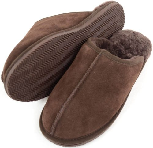 Snugrugs Jenson Chocolate Mens Sheepskin Mule Slipper