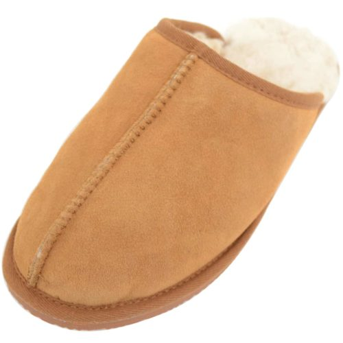 Snugrugs Jenson Chestnut Mens Mule Sheepskin Slipper