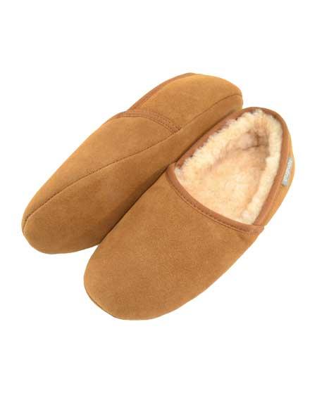 Harry Mens Sheepskin slippers Chestnut
