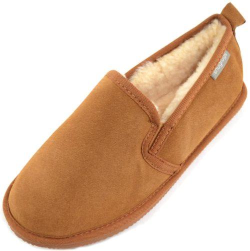 Henley Mens Sheepskin Slippers Chestnut