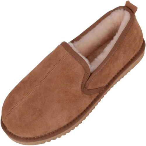 Snugrugs Joshua Mens Sheepskin Slipper Chestnut
