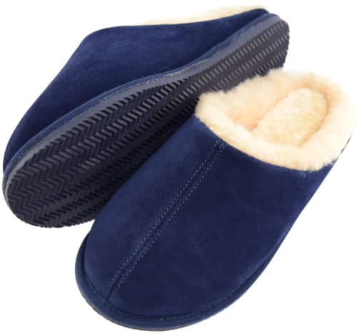 Snugrugs Newbury Mens Mule Sheepskin Slipper Navy