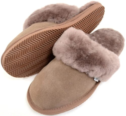 Elsie Mink Sheepskin Mule Slippers
