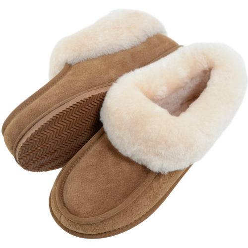 Snugrugs Ladies Sheepskin Slippers - Chestnut
