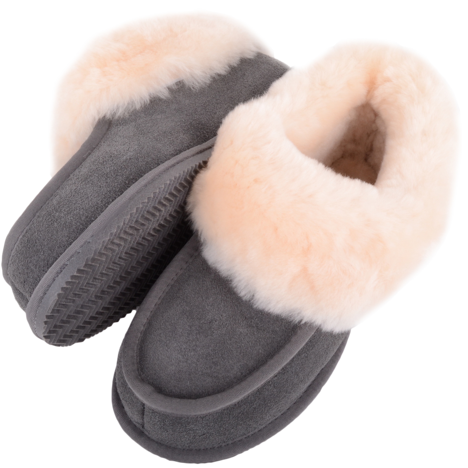 Snugrugs Ladies Sheepskin Slippers - Grey