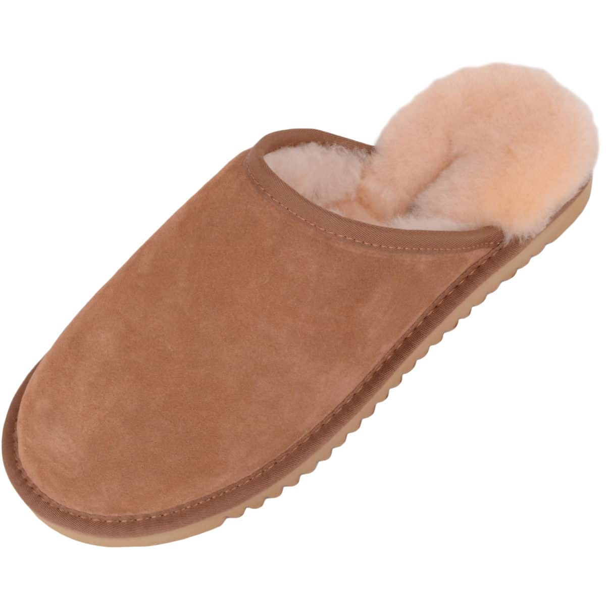 Snugrugs Taylor Mens Chestnut Mule Sheepskin Slipper