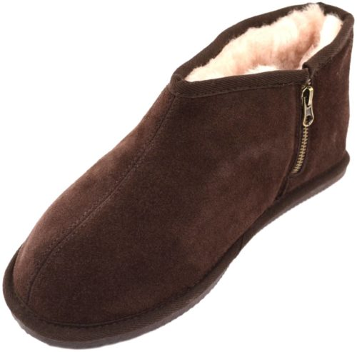 Benji Mens Sheepskin Slipper Brown