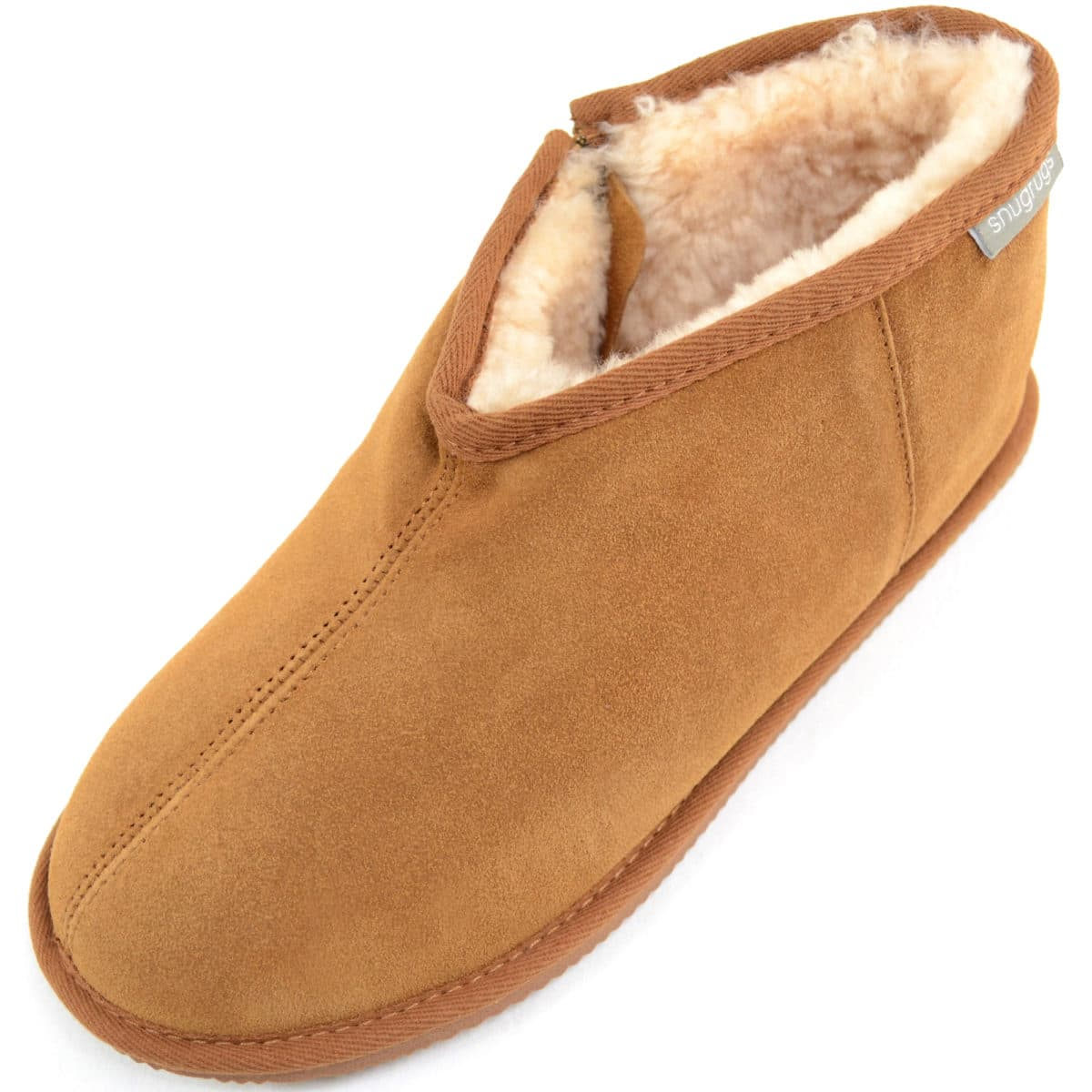 bffc297b513 Men's Boot Zip Slipper - Sheepskin Lining - Benji
