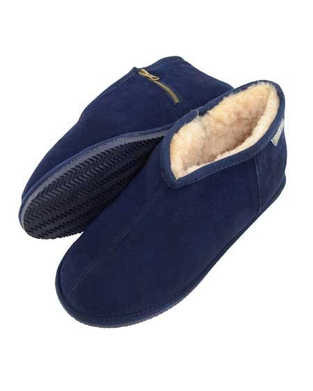 Benji Snugrugs Sheepskin Slipper Navy